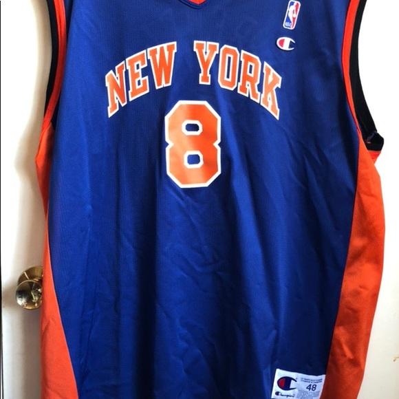 b99b0b02db2 NY Knicks Latrell Sprewell Champion NBA jersey 48.  M 5af6c77761ca10a15040d5d8